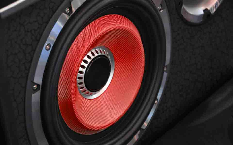automotive speaker red cone