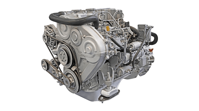silver automotive engine for powertrain systems