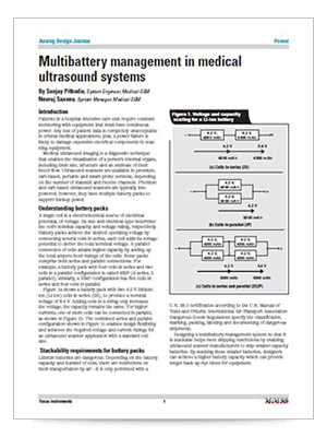 Multibattery management in medical ultrasound systems