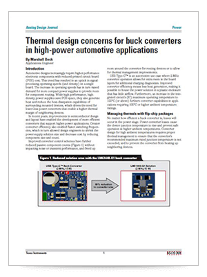 Thermal design concerns for buck converters in high-power automotive applications