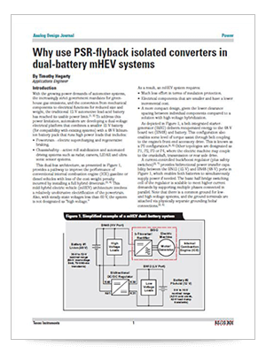 Why use PSR-flyback isolated converters in dual-battery mHEV systems