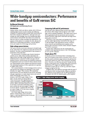 Wide-bandgap semiconductors: Performance and benefits of GaN versus SiC