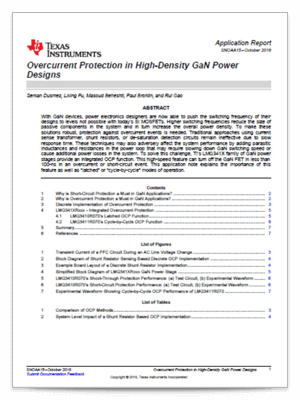 Overcurrent Protection in High-Density GaN Power Designs