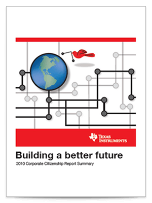Corporate citizenship report cover 2010