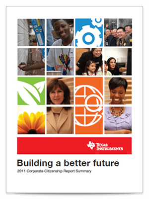 Corporate citizenship report cover 2011