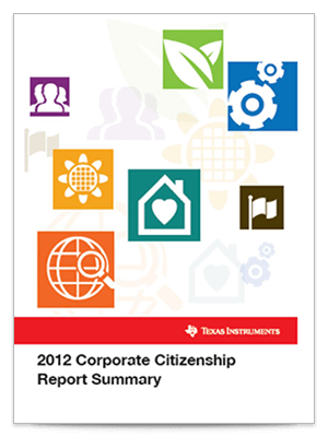 Corporate citizenship report cover 2012