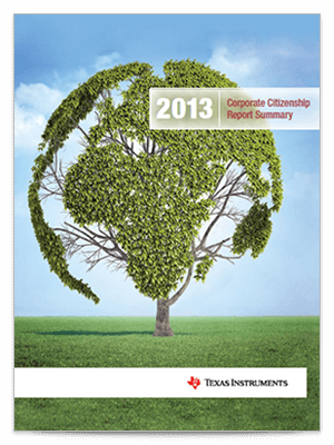 Corporate citizenship report cover 2013