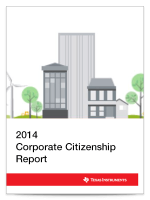 Corporate citizenship report cover 2014