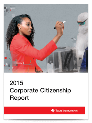 Corporate citizenship report cover 2015
