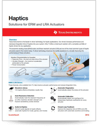 Haptics: Solutions for ERM and LRA Actuators