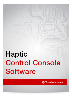Haptic Control Console Software