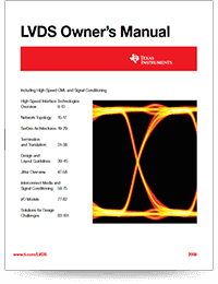 LVDS owners manual cover