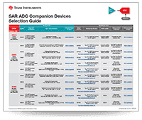 SAR ADC Companion Devices Selection Guide