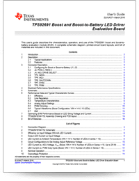 boost and boost-to-battery LED driver user guide cover sheet