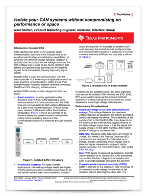 How to isolate signal and power in isolated CAN systems PDF cover page