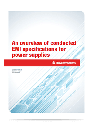 An overview of conducted EMI specifications for power supplies