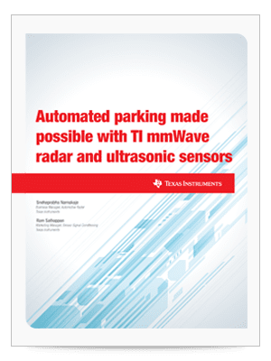 Automated parking made possible with TI mmWave radar and ultrasonic sensors whitepaper cover sheet