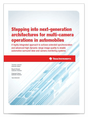 Automobile Multi-Kamera-Architektur – Whitepaper-Deckblatt