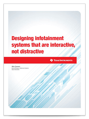 Designing infotainment systems that are interactive not distractive cover sheet