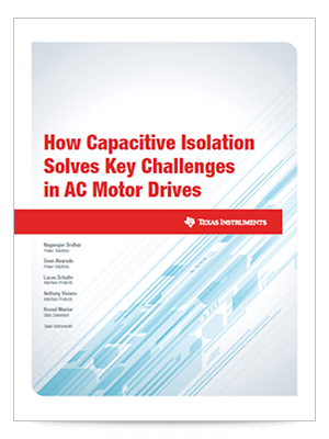 How capacitive isolation solves key challenges in ac motor drives cover page