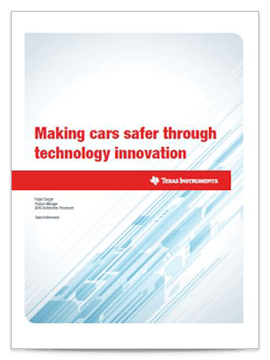 making cars safer through tchnology innovation whitepaper cover sheet