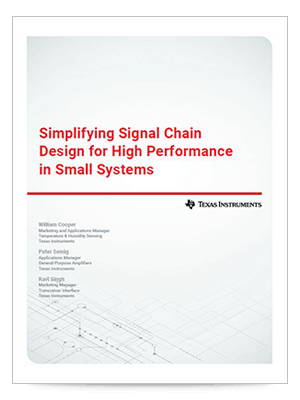 Designing a compact signal chain for high performance in small spaces cover