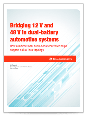 Bridging 12 V and 48 V in dual-battery automotive systems