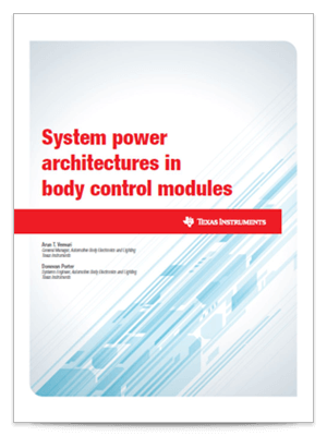 system power architectures in BCMs