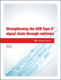 Cover page of the strengthening the USB Type-C™ signal chain through redrivers white paper