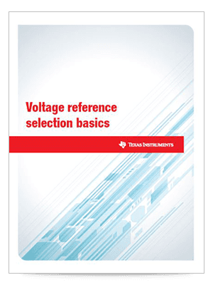 Cover page for Voltage reference selection basics white paper