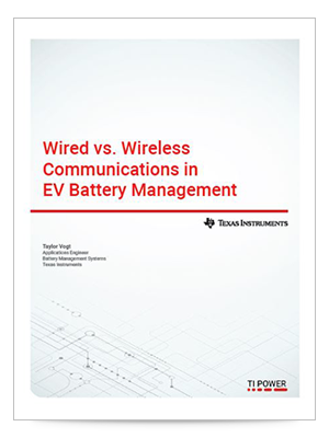 Wired vs. wireless communications in EV batteyr management