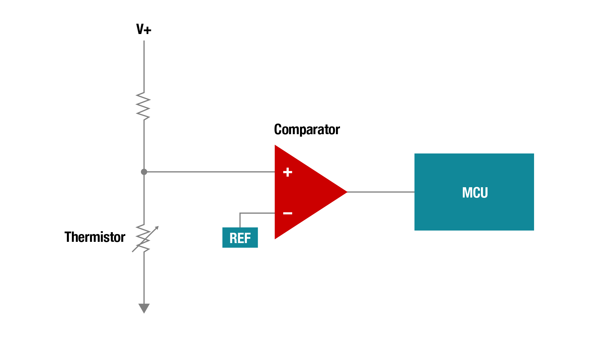Comparators Applications Amplifiers The Circuit Schematic For Lm339 Quad Voltage Comparator Over Temperature Sensing