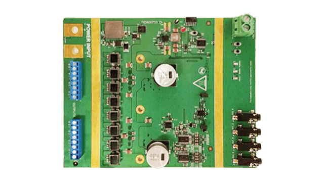 Automotive 8 Channel Class D Amplifier with 2.1 MHz Switching Power Supply Reference Design