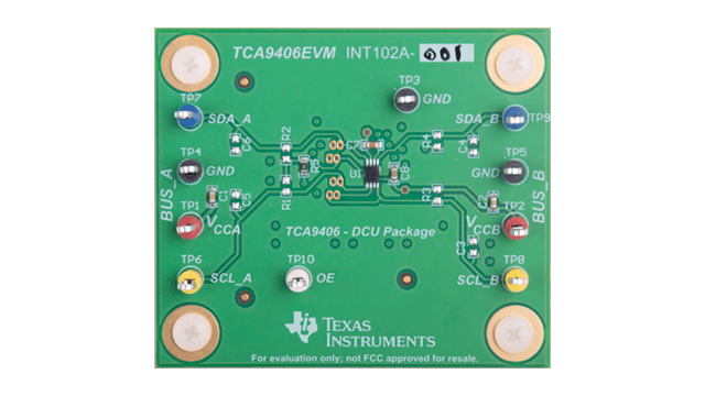 TCA9406EVM top-view board photo
