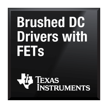 black chip shot brushed dc drivers with fets texas instruments