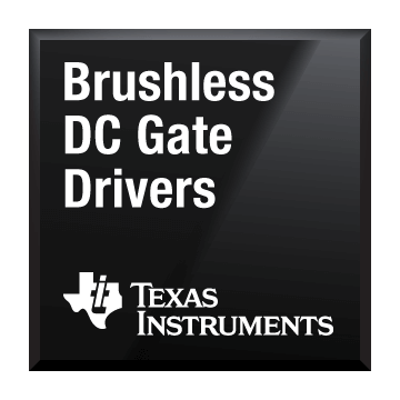 black chip shot brushless dc gate drivers texas instruments