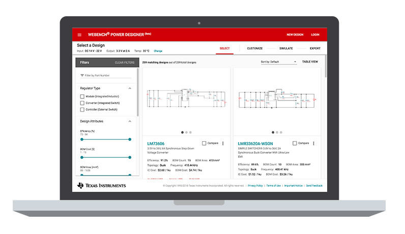 New WEBENCH® Power Designer is now even easier to use