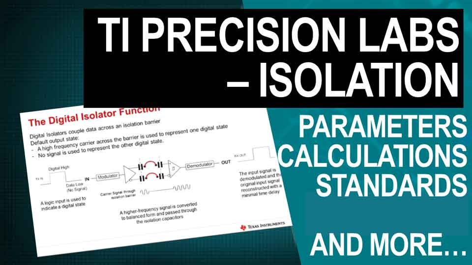 Title page of the parameters, calculations and standards video for isolators