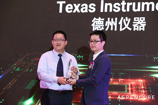 TI accepts a Product of the Year award at World Electronics Achievement Awards