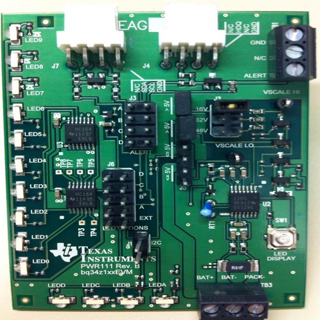 BQ34Z100EVM-Bq34z100EVM 1s to 16s Impedance Track Fuel Gauge Battery Evaluation Module  Gas Gauge Battery - TI store image
