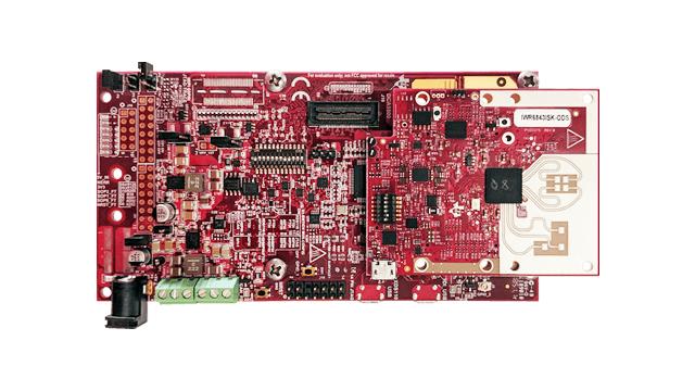 IWR6843ISK-ODS IWR6843 intelligent mmWave overhead detection sensor (ODS) antenna plug-in module (top right) + MMWAVEICBOOST mmWave sensors carrier card platform board image