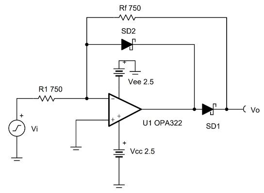 CIRCUIT060009 Half-wave rectifier circuit | TI.com on