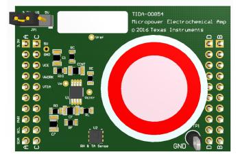 TIDA-00854 Micropower Electrochemical Gas Sensor Amplifier