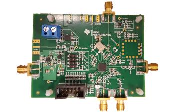 通过单节电池供电的 TIDA-00886 低功耗射频 PLL 合成器参考设计电路板图像