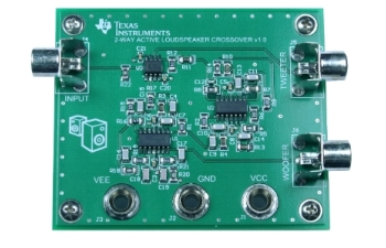 tipd134 test board for analog, active crossover circuit for two-way  loudspeakers