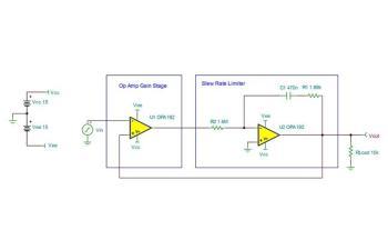 tipd140 single op amp slew rate limiter reference design ti com rh ti com Adjustable Voltage Regulator Circuit 10 Volt Regulator Circuit