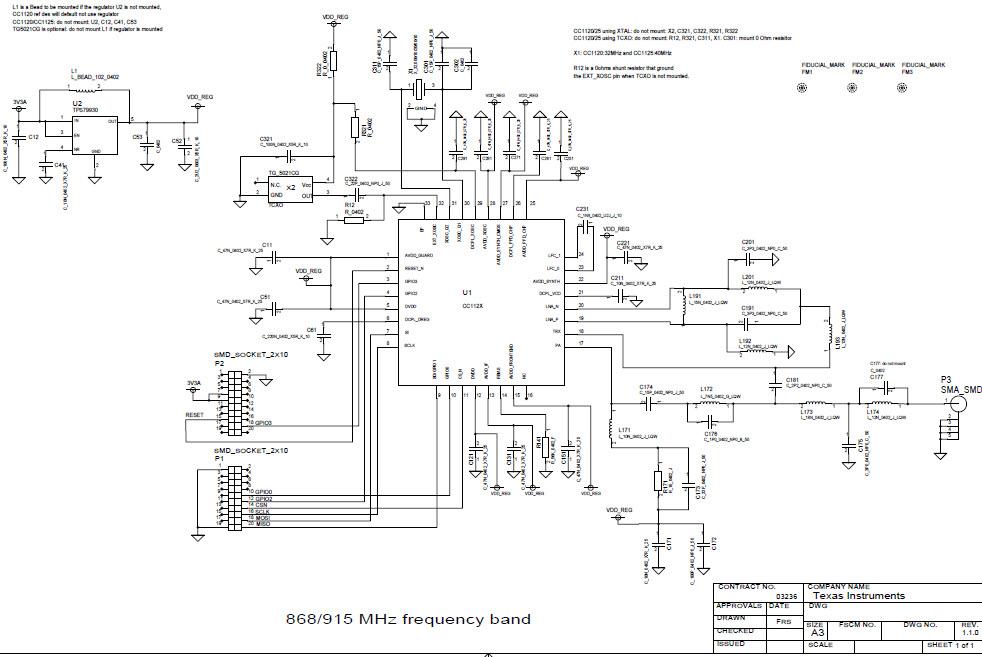 cc1125em 915mhz reference design