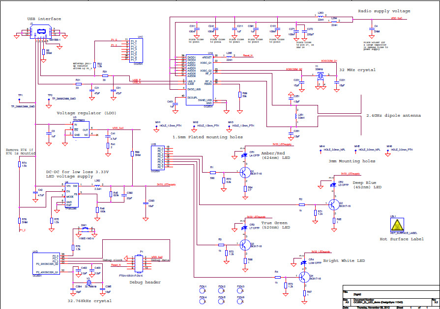 cc2531zlight2-rd cc2531 zlight2 reference design | ti, Wiring schematic
