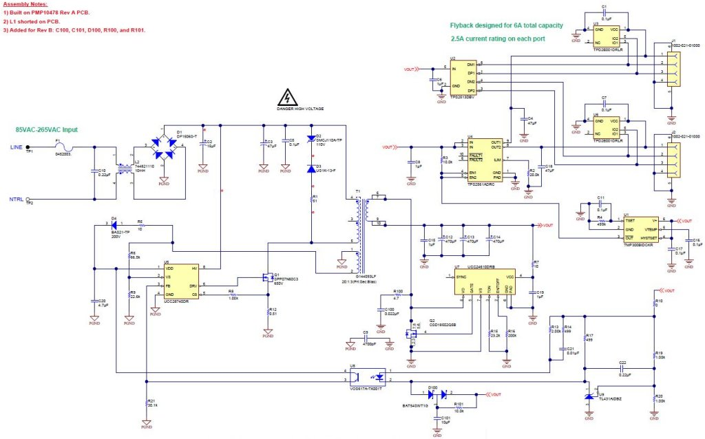 Tablet usb circuit schematic best site wiring harness pmp10478 85 to 265vac input 5v30w dual port charger for tablets and greentooth Choice Image