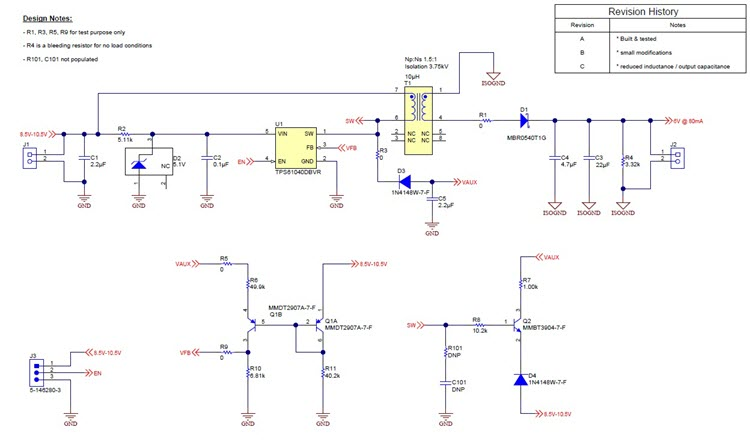 Pmp30064 Low Power Isolated Flyback Reference Design Ti